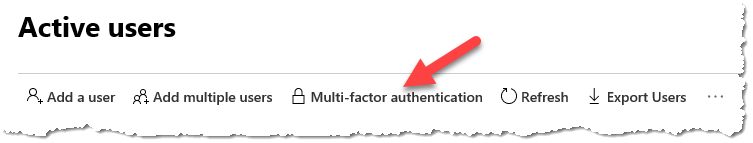 Office 365 - multi-factor authentication link